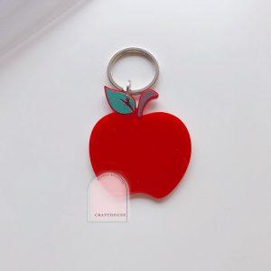 apple acrylic keyring
